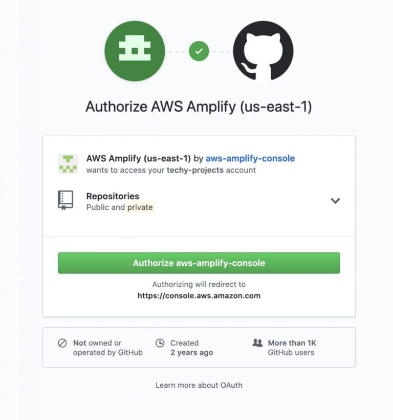 Github Authorize screen