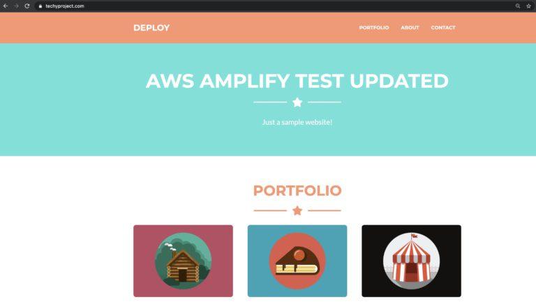updated website screenshot