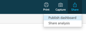 publish dashboard