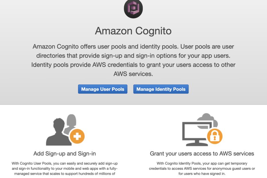 Cognito Dashboard Screenshot