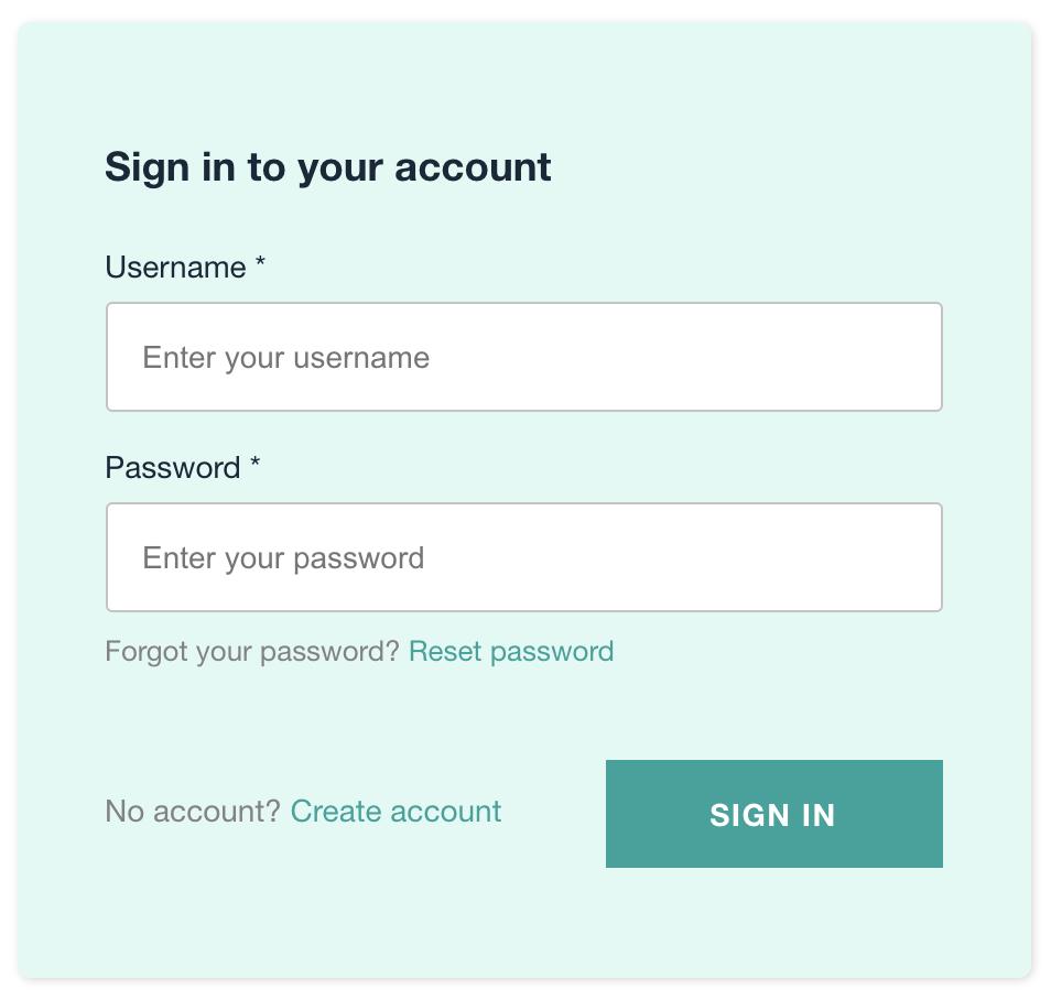 AWS Amplify customized cognito login