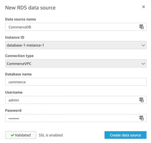 AWS Quicksight RDS Data source